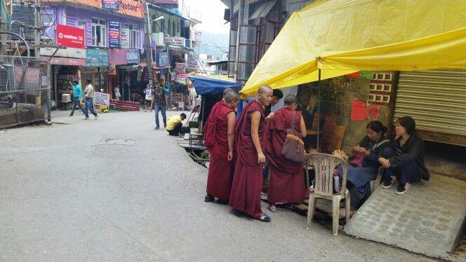 Monks in mcleodganj