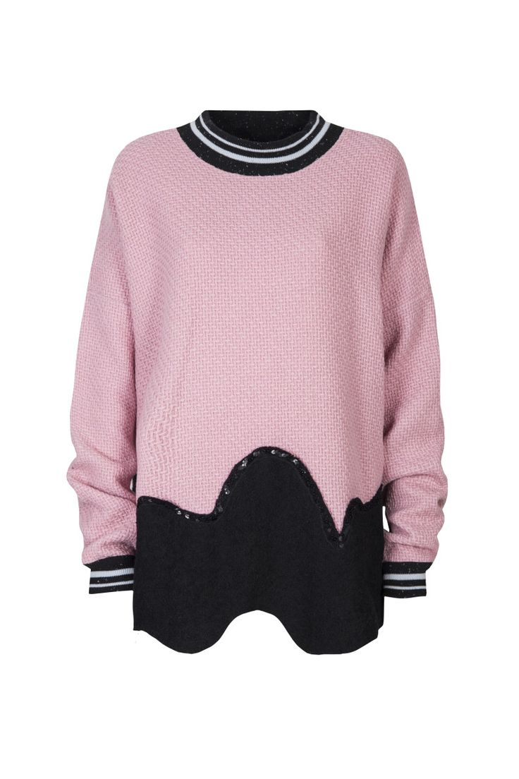 Domi Grzybek, Monster, sweater Monster002f (pink). To download high or low resolution product images view Mondrianista.com (editorial use only).