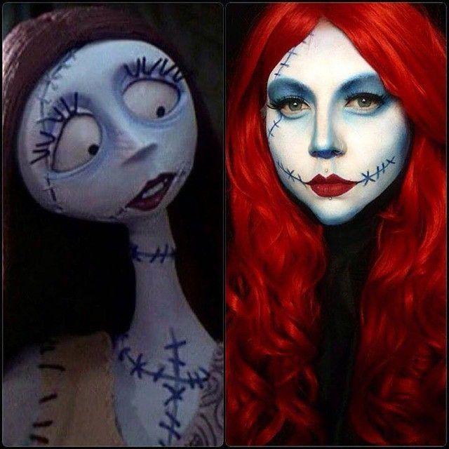 ♥ Nightmare Before Christmas/Sally  makeup inspiration ♥ Created using Sugarpill Cosmetics.  www.beserk.com.au/sugarpill #TheNightmareBeforeChristmas #TNBC #Sally #TimBurton #Halloween #HalloweenMakeup  #HalloweenCostume  Created by: Vanity Venom