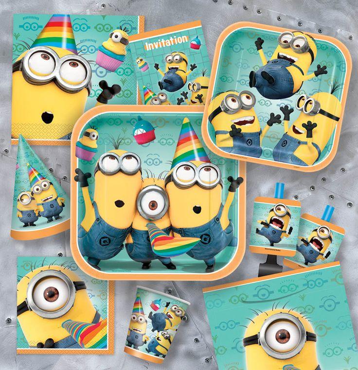 Despicable Me 2 birthday party supplies photos | Fête d'enfants | Coeur en fête