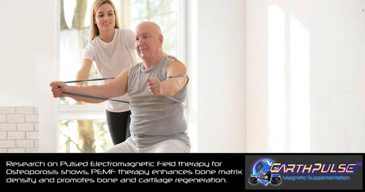 Studies on electromagnetic therapy for Osteo health show,  this therapy enhances bone density and further promotes bone / connective tissue recovery.