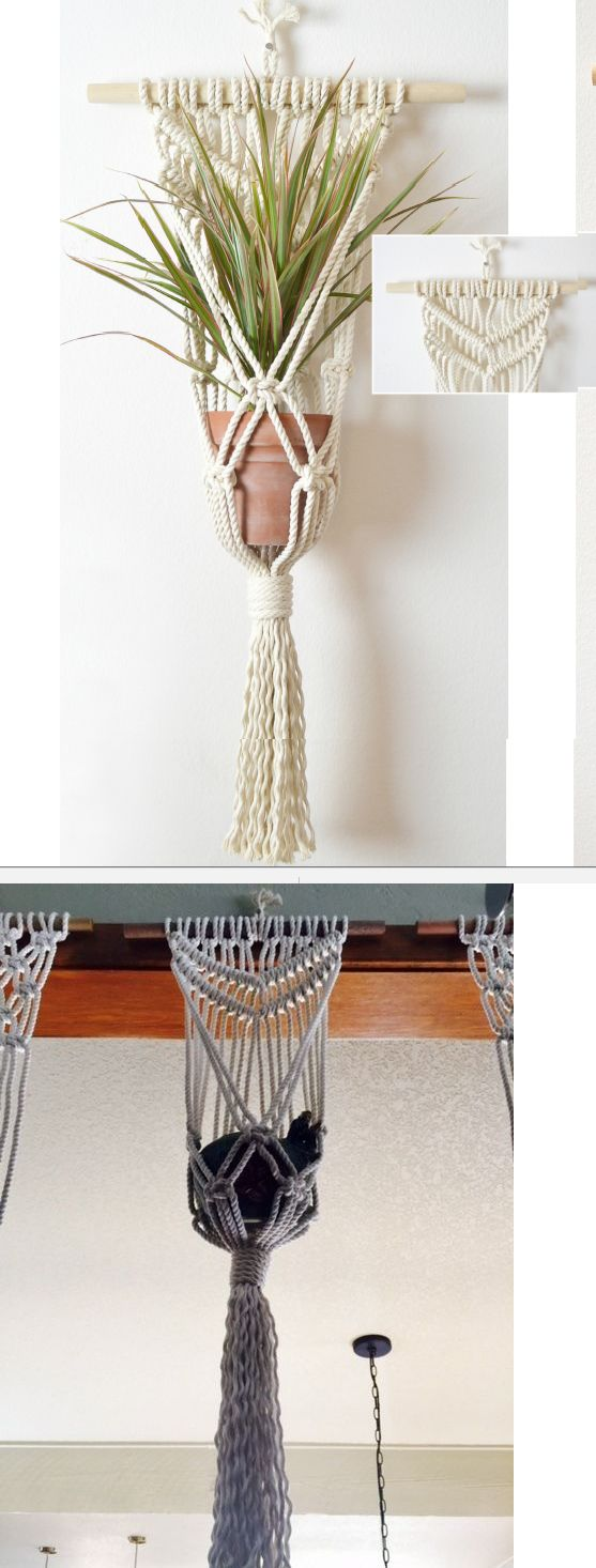 Plant Hooks and Hangers 134671: Beautiful Hand-Knotted Macrame Wall Plant  Hanger 100% - Best 25+ Plant Hooks Ideas On Pinterest Curtains For Bedroom