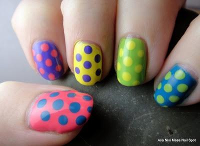 Asa Nisi Masa Nail Spot, 3/4/12: Polka Dot Skittle Mani