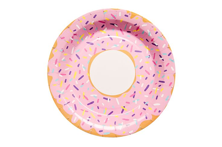 Delicious donut party plates.
