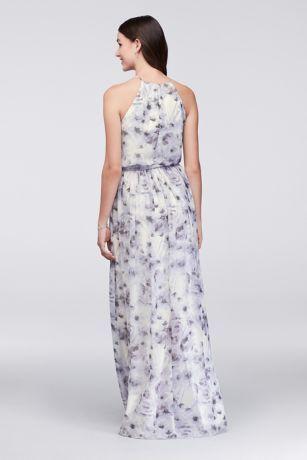 5aef87c39db Alana Printed Chiffon Bridesmaid Dress   David's Bridal   bridesmaid ...
