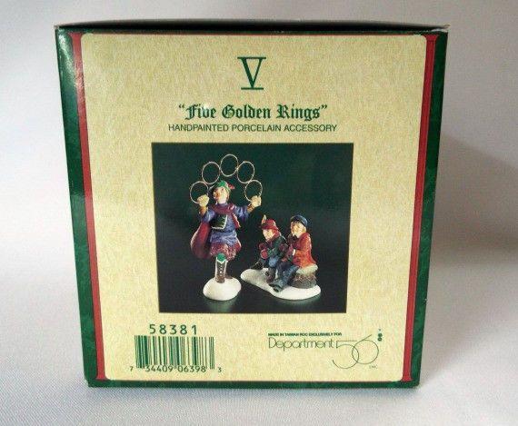 Dept 56 Five Golden Rings Dickens Village Christmas Decor Heritage 58381  #Department56 #DickensVillageHeritage