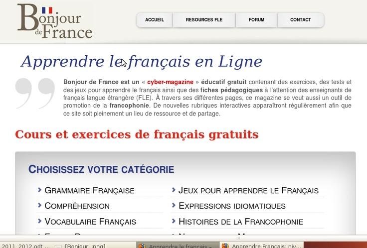 Apprendre le français en Ligne