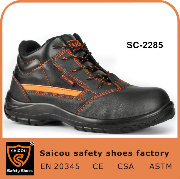 Earthworks Mens Black Steel Toe Cap Safety Shoe