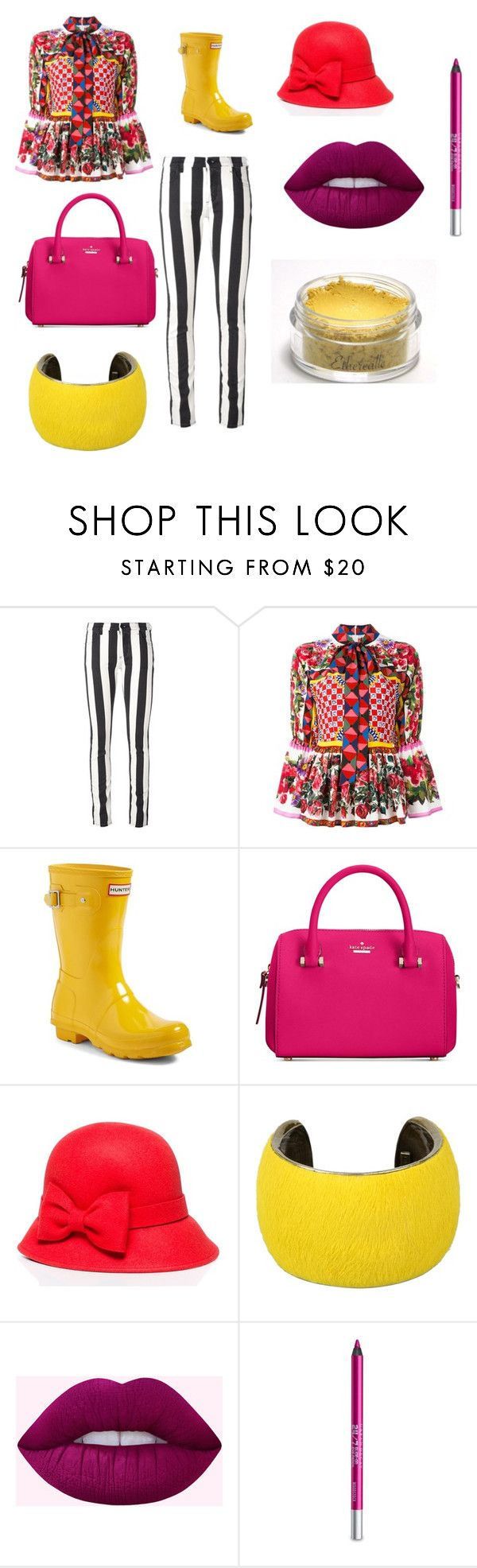 """Clown Suit"" by geneplore007 on Polyvore featuring Off-White, Dolce&Gabbana, Hunter, Kate Spade, Isabel Marant and Urban Decay"