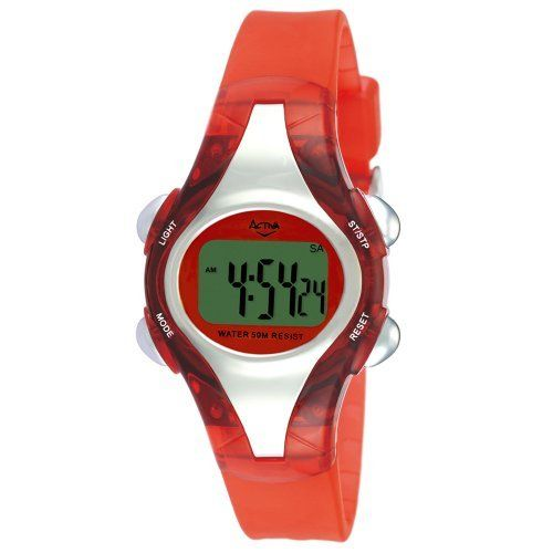 Activa By Invicta Women's AD011-008 Red Digital Watch Activa By Invicta. $19.99. Water resistant depth 50 M. Back light. Water-resistant to 165 feet (50 M). Quartz movement. Save 60% Off!