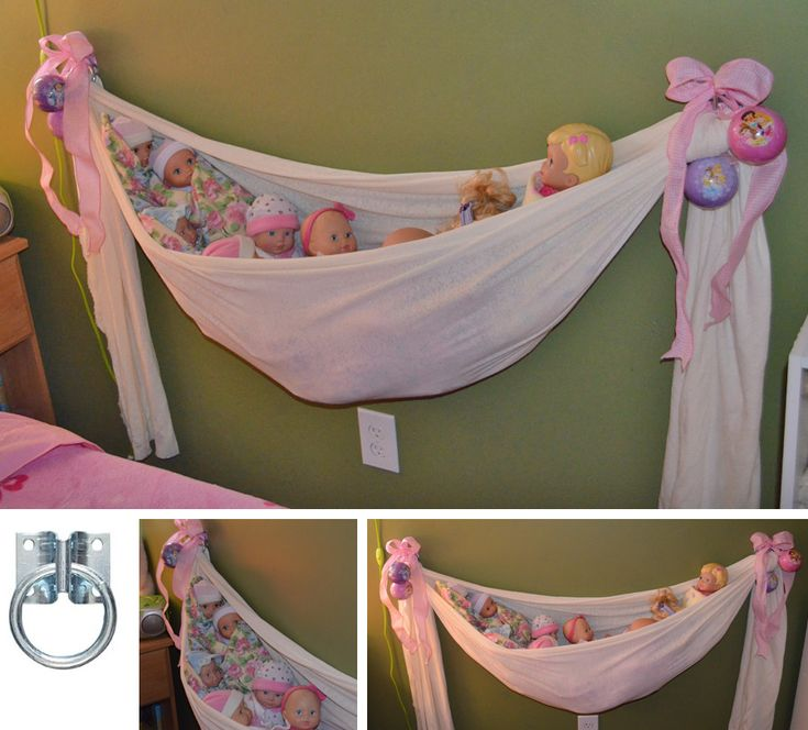 """Oooh I need to make this for Elsa!  2  x 1 7/8"""" Hitch Rings hold the weight of all those babies. The fabric is just a length of cheap stretch t-shirt (but I'd buy a heavier one next time)."""