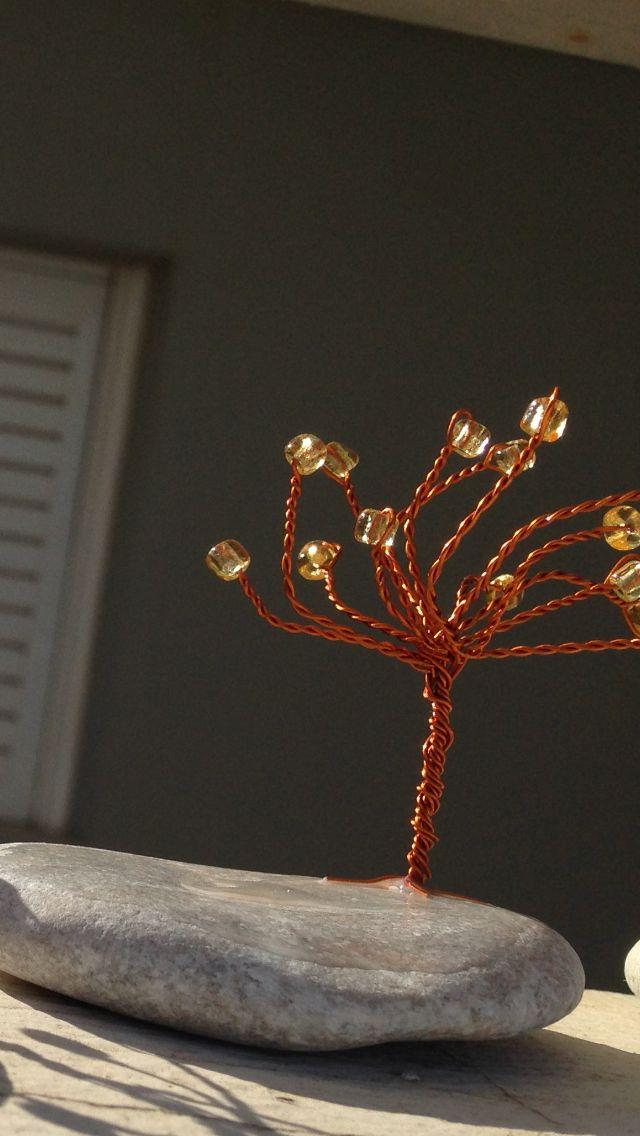 Handmade wire tree