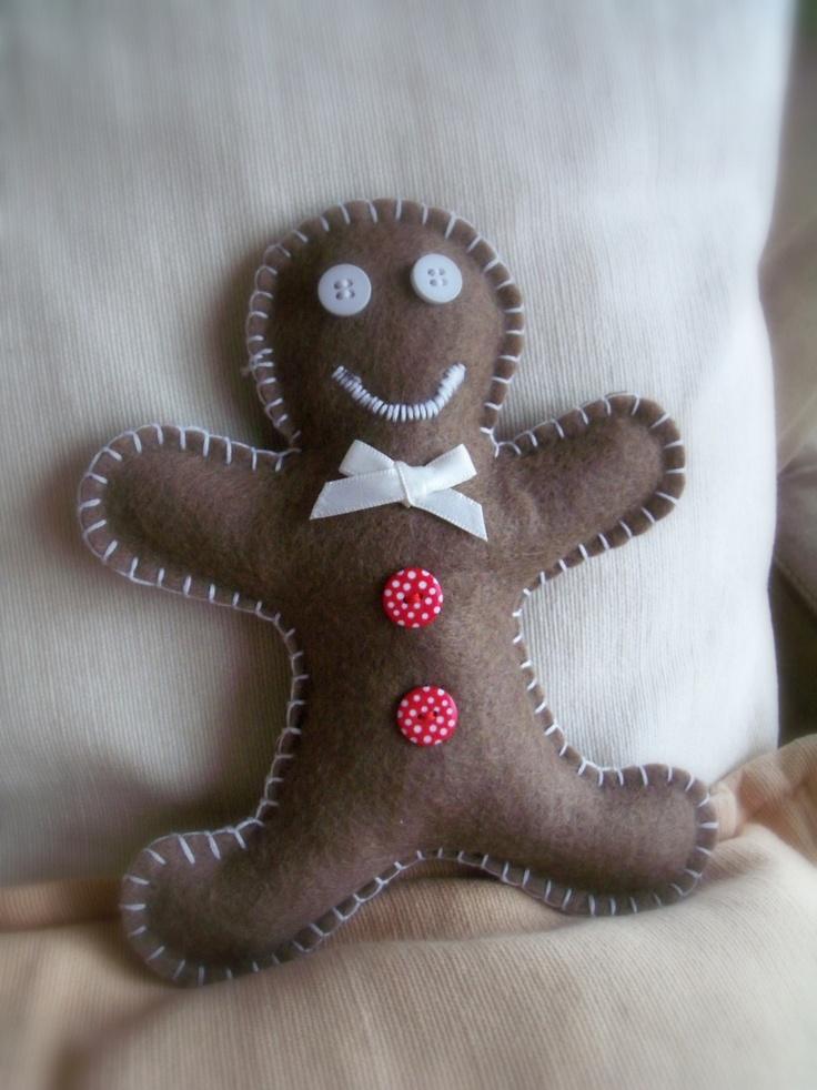 Gingerbread Man en feutrine - Petit bonhomme pain d'épice