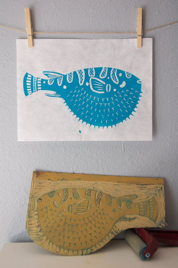I still might block print things to have there... Don't know what. Maybe napkins...?