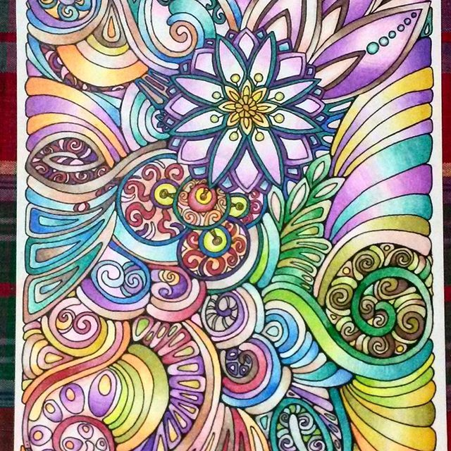 colouring page which has been coloured in by