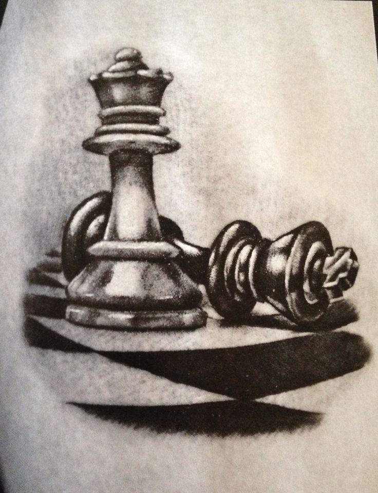 Chess pieces tattoo | tattoos | Pinterest