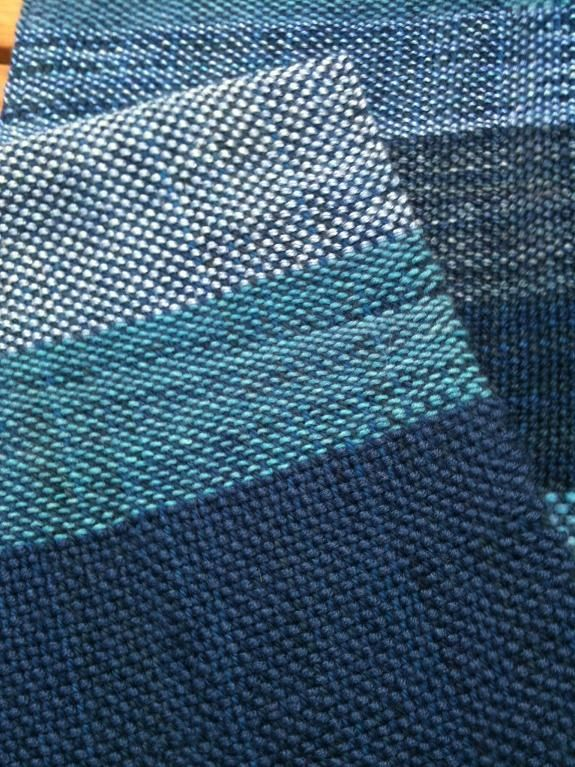 Woven on a rigid heddle loom