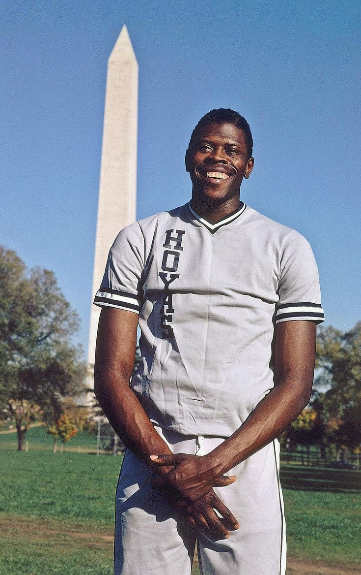 Aug. 5, 1962 Patrick Ewing was born. Basketball star from Georgetown University Patrick Ewing poses near the Washington Monument in 1985. (AP Photo/William Collins Auth)