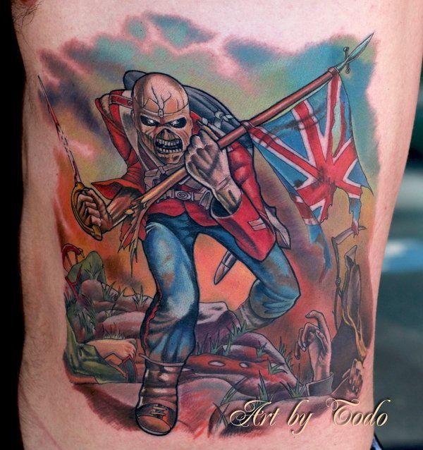 iron maiden the trooper tattoo eddie trooper by todo abt eddie tattoos pinterest the o. Black Bedroom Furniture Sets. Home Design Ideas