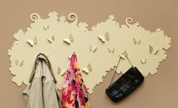 This large butterfly hanger will hang many  items of your clothing. Lovely, delicate design  will be a beautiful and unique wall decoration!  Available in other colours from our Colour Chart  to match your interiors.