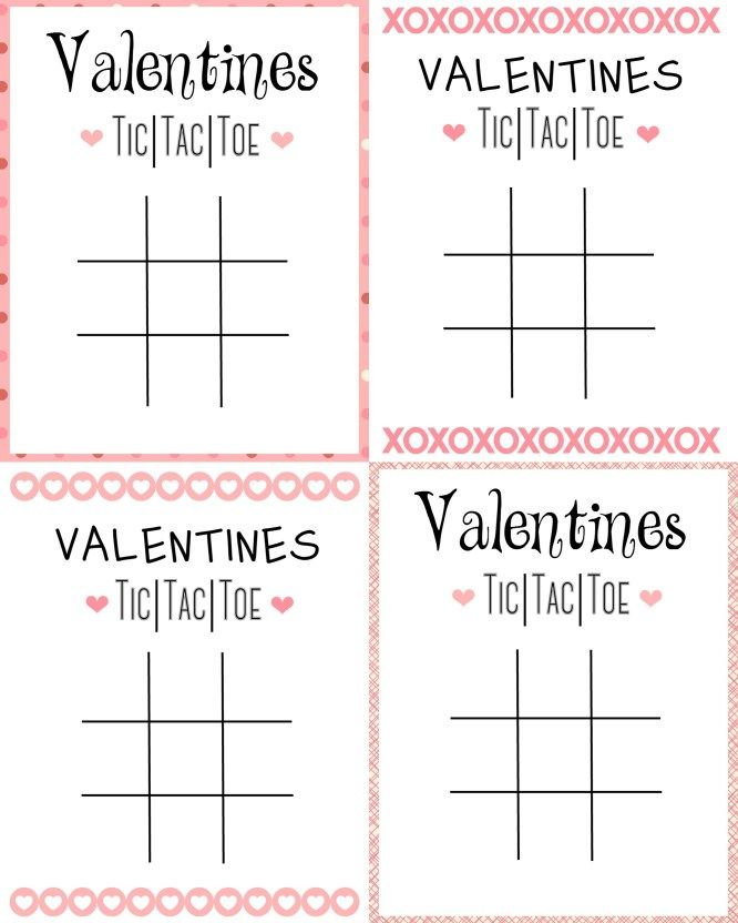 graphic about Tic Tac Toe Valentine Printable titled Printable Tic Tac Toe Valentine Crafts Tic tac valentine