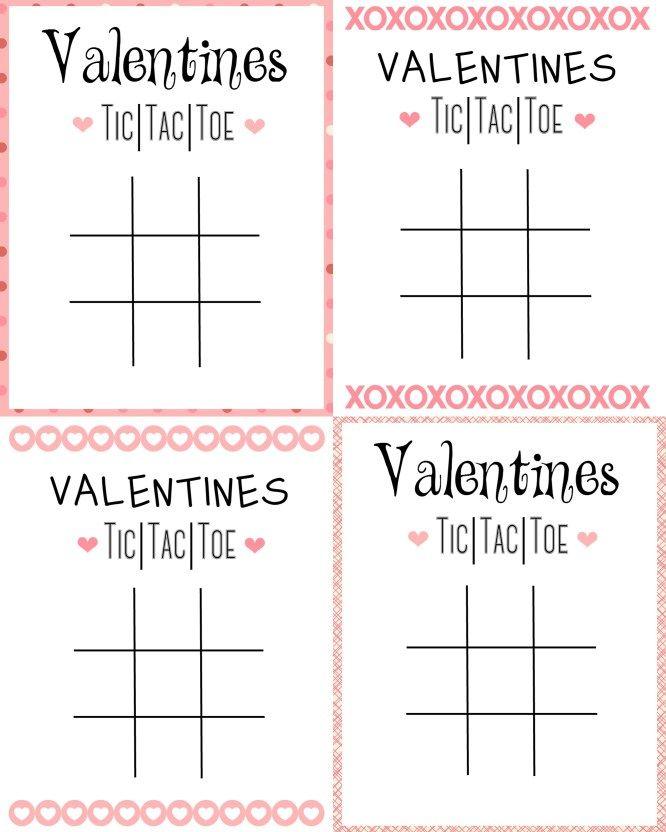 picture regarding Valentine Tic Tac Toe Printable titled Printable Tic Tac Toe Valentine Crafts Tic tac valentine
