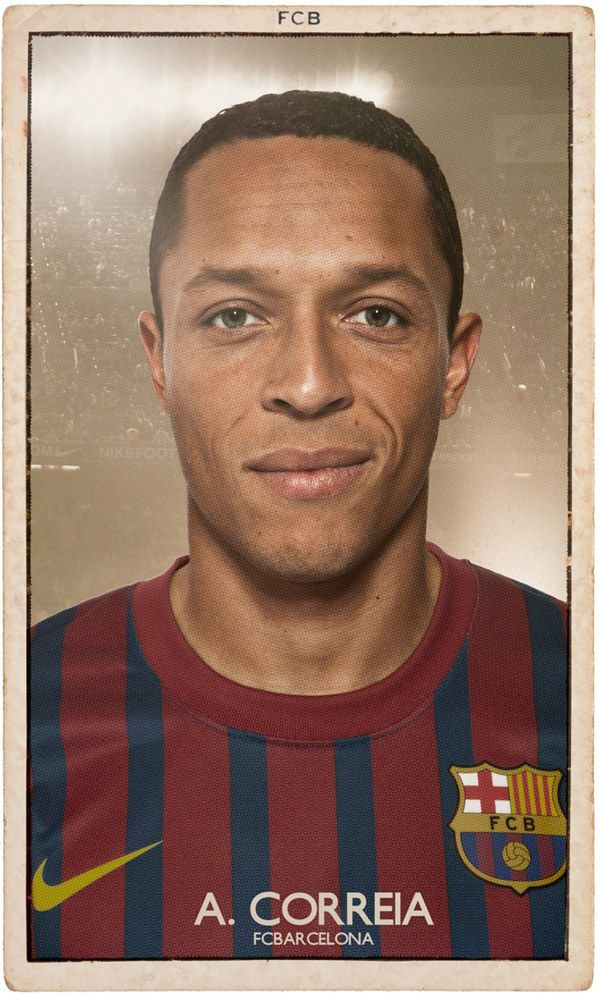 FC BARCELONA VINTAGE FOOTBALL CARDS by DIVER AND AGUILAR , via Behance