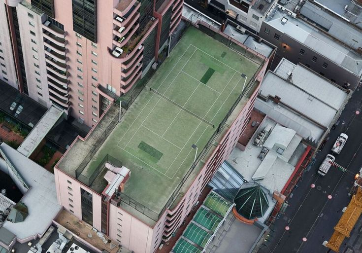 There's a beautiful geometry to Melbourne when you look down.