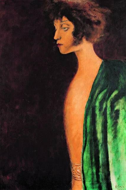 Josef Sima (Czech,1891-1971) - Portrait  of Zuzka Zguriška, 1933