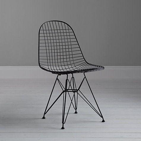 Buy Vitra Eames DKR Side Chair, Black Online at johnlewis.com