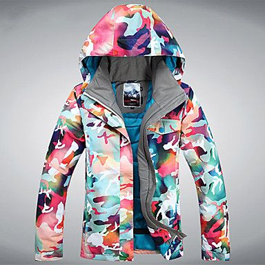 Mujer Chaquetas de Ski/Snowboard Esquí / Patinaje / Deportes de Nieve / SnowboardImpermeable / Transpirable / Listo para vestir / – USD $ 89.99