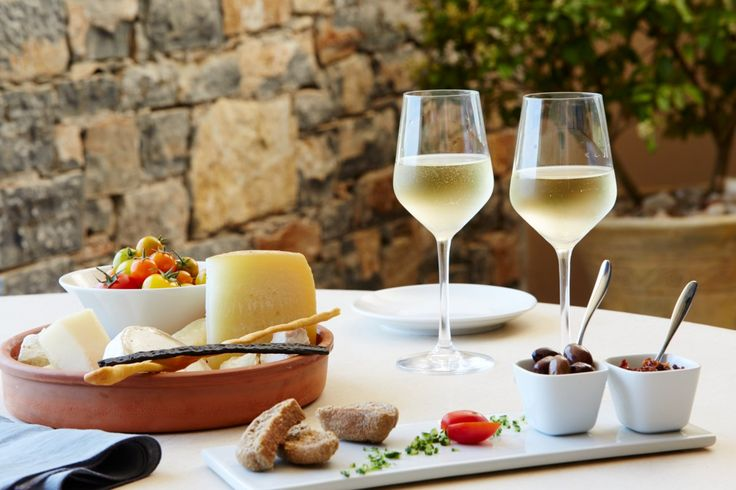 Cheese and wine at the Cove