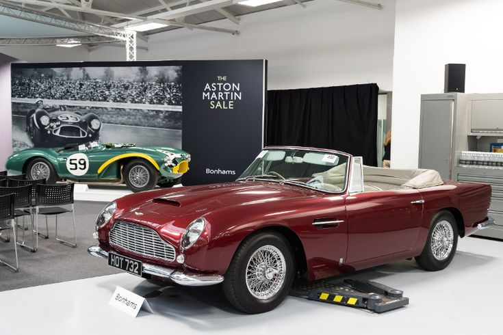 1964 ASTON MARTIN DB5 CONVERTIBLE Hammer price £720,00 in 2016.