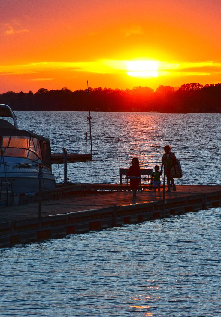 Day's End on Lake Norman. A beautiful sunset send you home after a day on the lake.