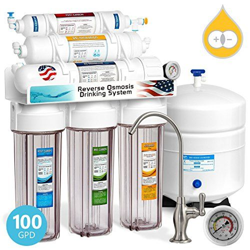 Express Water Deionization Reverse Osmosis Filtration System 6 Stage Ro Di Filter With Faucet And Tank Distilled Pure Under S Standard Faucets Rever