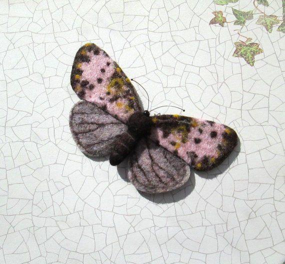Nadel Gefilzt Schmetterling Schmetterling Brosche Motte Etsy Needle Felting Felt Brooch Felt Birds