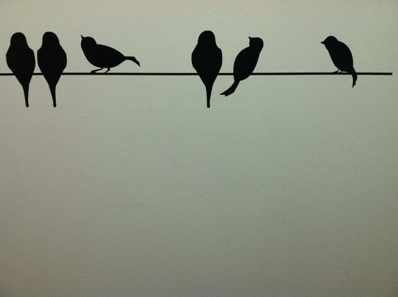 Birds On A Wire vinyl lettering art decal by VinylLettering, $9.99 this will look perfect in my bedroom
