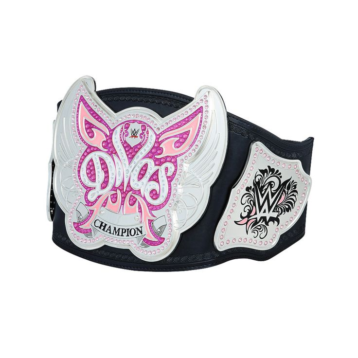 WWE proudly introduced the New WWE Divas Championship Replica Belt on Smackdown in July of 2008. This is the Championship Belt that was introduced to its 1st champion, Michelle McCool. The prestige and legacy of this Title Belthas only grown since then.This Replica belt features all the exact details from the actual WWE Divas Championship  Plate Material: Zinc Alloy Strap Material: Polyurethane Strap Dimensions:44.89