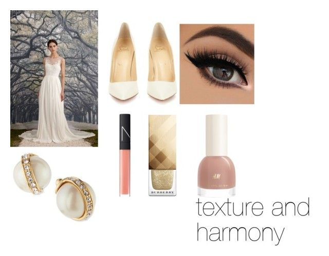 """wedding"" by keeshac on Polyvore featuring Nicole Miller, Christian Louboutin, NARS Cosmetics, Burberry, Kate Spade, women's clothing, women, female, woman and misses"