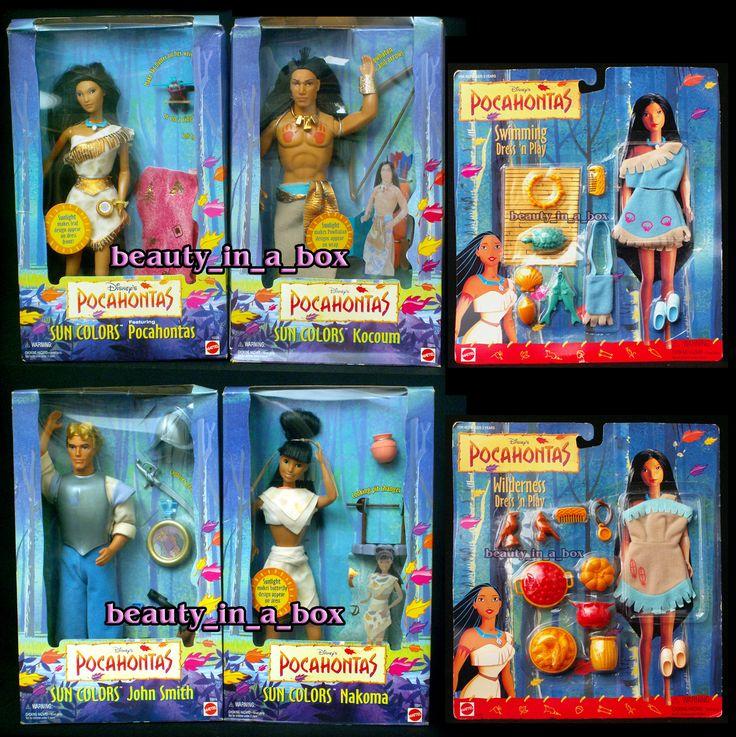 Pocahontas John Smith Kocoum Nakoma Sun Colors Disney Fashion Barbie Doll Lot 6   eBay