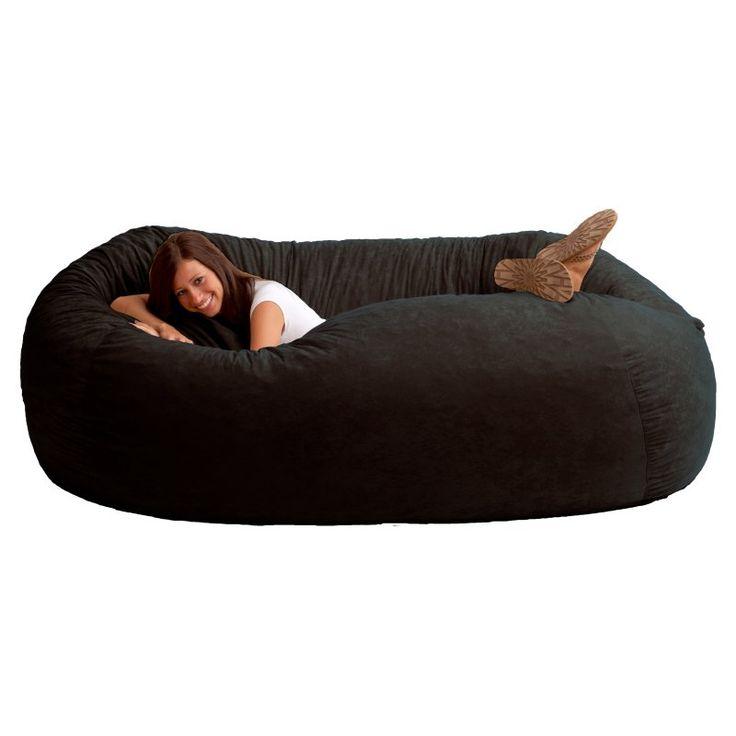 XXL Comfort Suede Bean Bag Sofa Black Onyx - 0001178 - Best 20+ Bean Bag Sofa Ideas On Pinterest Outdoor Bean Bag Chair