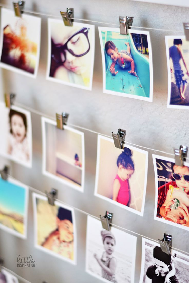 how to put photos on wall without frame