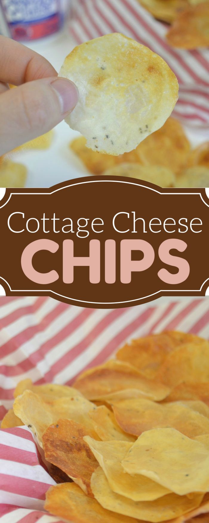 Cottage Cheese Crisps, snack on a healthier chip. #cottagecheesechips #healthychips