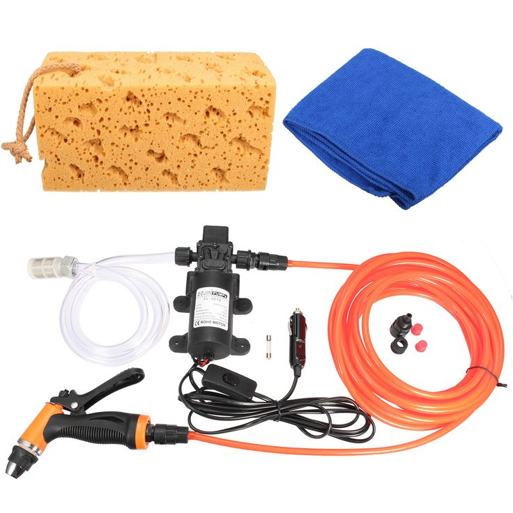 Portable 12V 60W 100PSI High Pressure Car Electric Washer Auto Wash Pump Kit Set