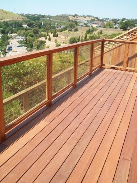 There's no need to sacrifice railing style and design for efficiency and safety. If you're afraid of blocking a fabulous view, many contemporary railings are available with glass or see-through slats. When selecting deck railing, consider how easy it will be to maintain and how well it will hold up to weather conditions. And don't forget that the railing is as much an aesthetic component as is the deck's building material — think about style and congruity.