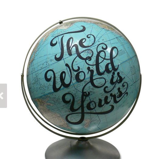 embellish an old globe - great gift for a graduate!