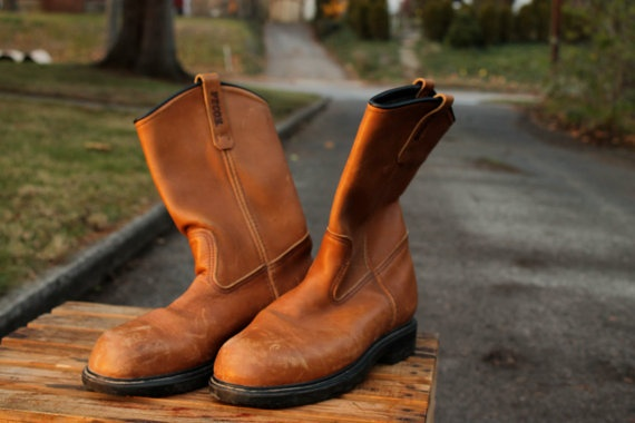 Red Wing Pecos GoreTex lined boots by aarinda on Etsy, $65.00