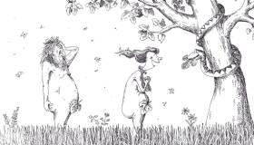 A ruhásszekrény születése (Szűcs Édua karikatúrája)