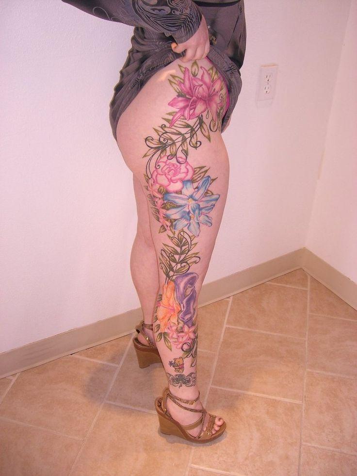 LegTattoo Ideas, Floral Legs, Flower Legs Tattoo, Tattoo Floral, Beautiful Legs, Tattoo Designs, Leg Tattoos, Flower Tattoos, Floral Tattoos