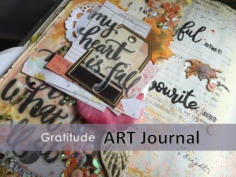 Art Journal I Gratitude Mixed media video by the colourpress - YouTube